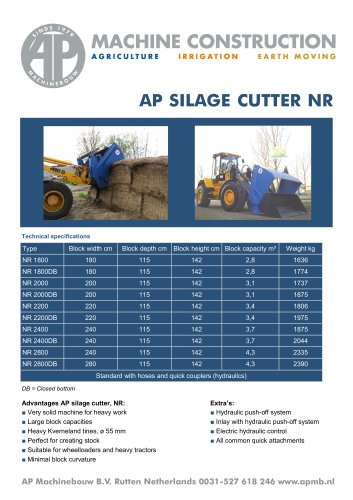 AP Silage Cutter NR