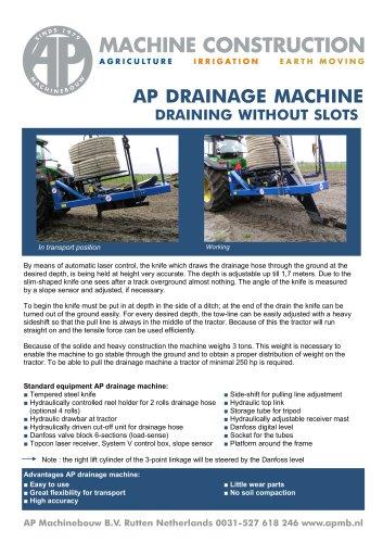 Drainage machines