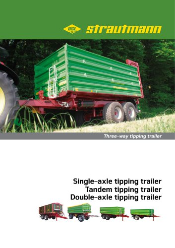 Three-way tipping trailer