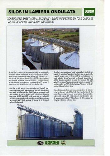 Corrugated sheet metal silo bins