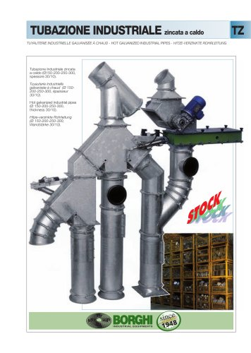 Hot galvanized industrial pipes