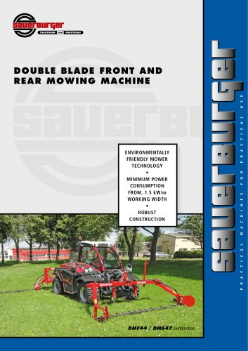 DOUBLE BLADE FRONT AND REAR MOWING MACHINE DM series
