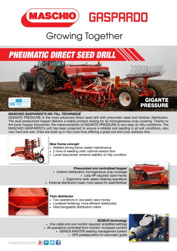 PNEUMATIC DIRECT SEED DRILL
