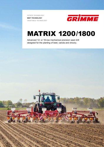 MATRIX 1200 / 1800 - Mechanical precision seeder