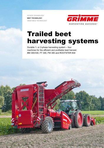 Trailed beet harvesting systems
