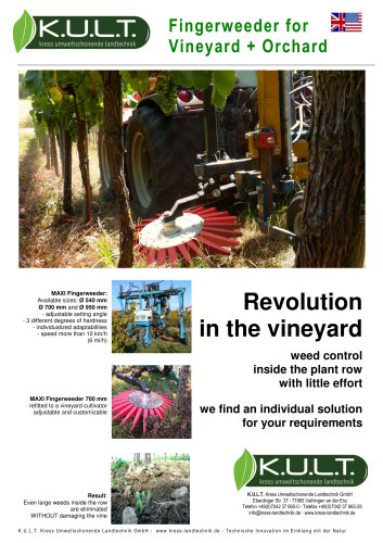 Fingerweeder MAXI for vineyards + orchards