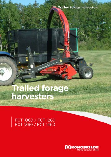 Trailed forage harvesters