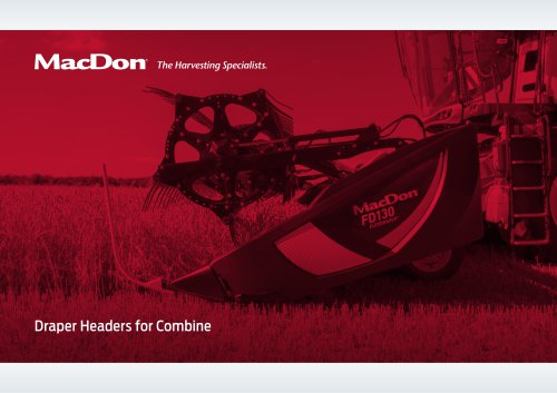 D1 & FD1 FlexDraper® Header for Combine Brochure