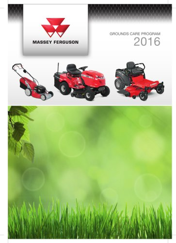 MF Mowers and Tillers - MF Ground Care 2016