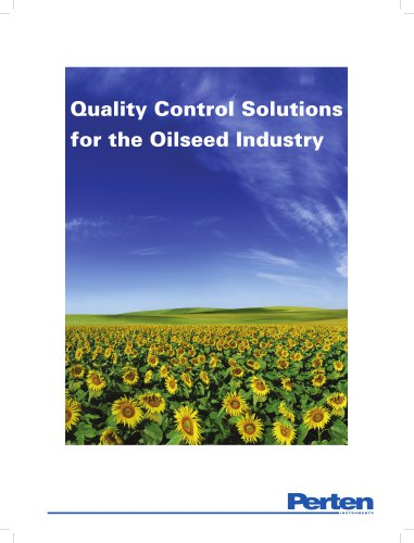 Analysis solutions for oilseed processing