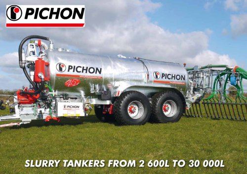 SLURRY TANKERS FROM 2 600L TO 30 000L