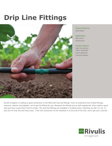 Drip Line Fittings