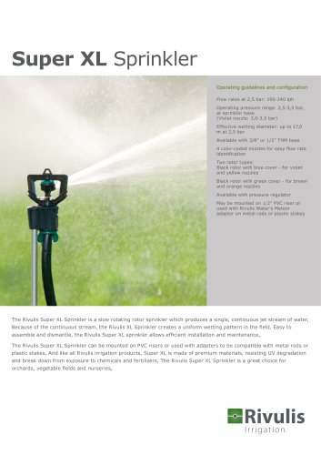 Super XL Sprinkler