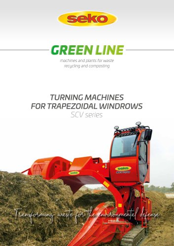 TURNING MACHINES FOR TRAPEZOIDAL WINDROWS