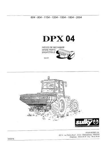 DPX 604 - 804 - 1004 - 1204 - 1504 - 1804 -2004
