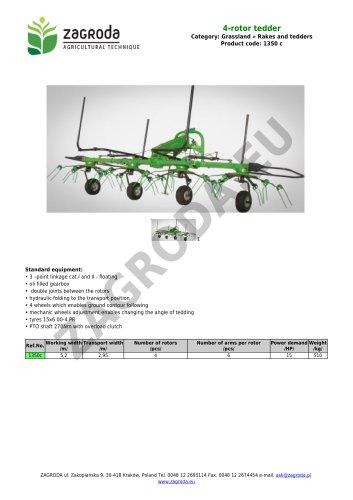4-rotor tedder