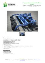 Compact disc harrow with rubber dampers,code : 8436/8437a - 1