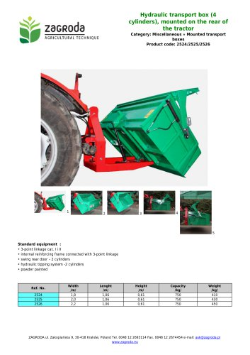 Hydraulic transport box