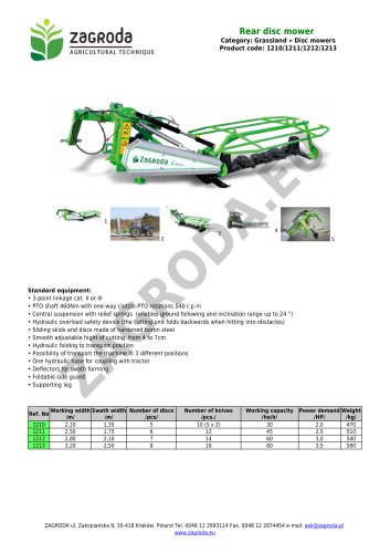 Rear disc mower