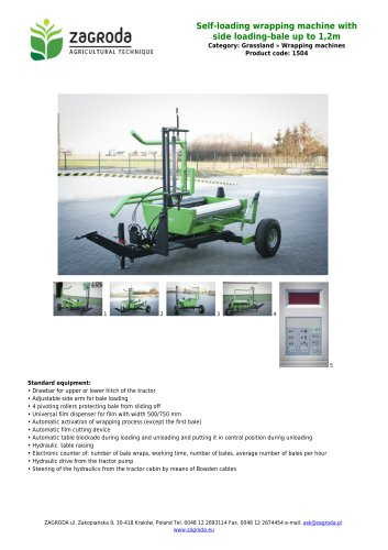 Self-loading wrapping machine with side loading-bale up to 1,2m