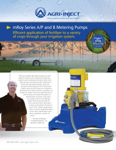 mRoy Series A/P and B Metering Pumps