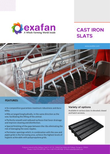Sheet - Cast iron slats