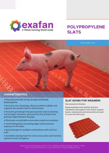 Sheet - Polypropylene slats