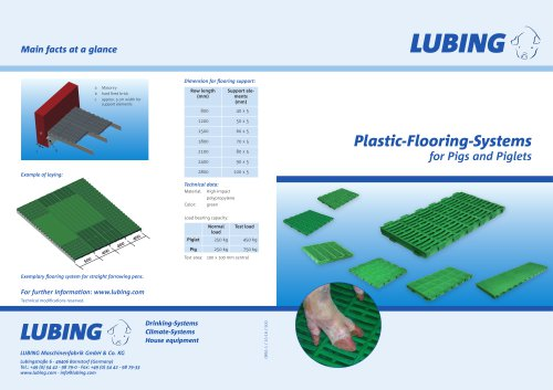 Plastic-Flooring-Systems for Pigs and Piglets