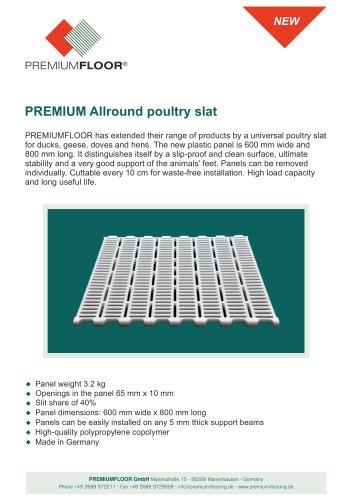 PREMIUM Allround poultry slat