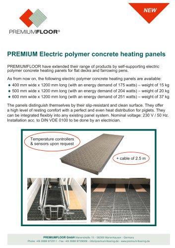 PREMIUM Electric polymer concrete heating panels