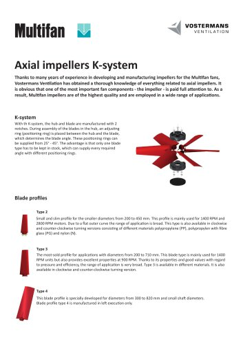 Axial impellers K-system