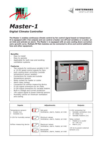 Master-1 Digital Climate Controller