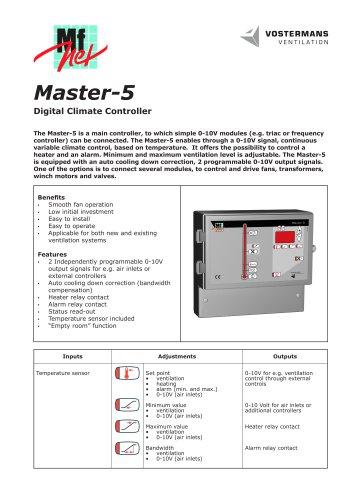 Master-5 Digital Climate Controller