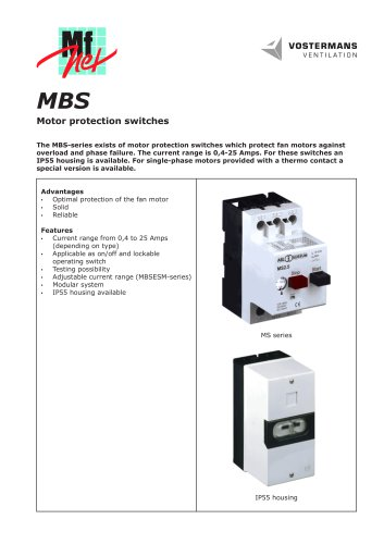MBS Motor protection switches