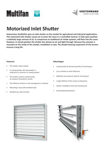 Motorized Inlet Shutter