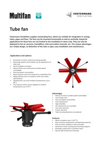 Multifan Tube mounting fan