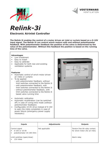 Relink-3i Electronic Airinlet Controller