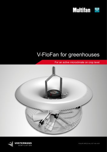 V-FloFan for greenhouses