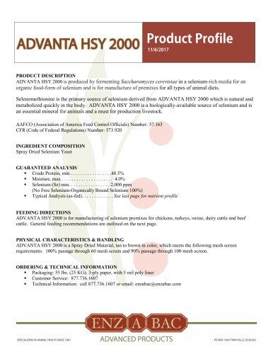ADVANTA HSY 2000