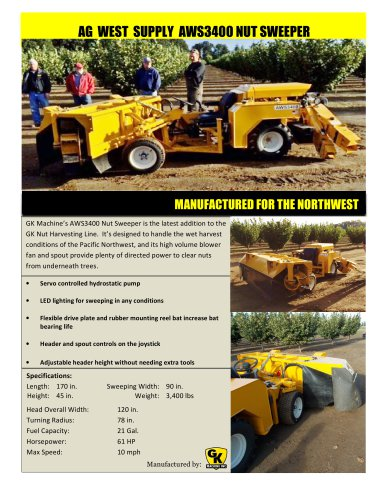 Nut Sweeper - AWS3400