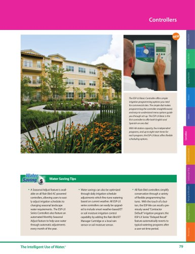 Controllers -- 2018 Rain Bird Landscape Irrigation Products Catalog