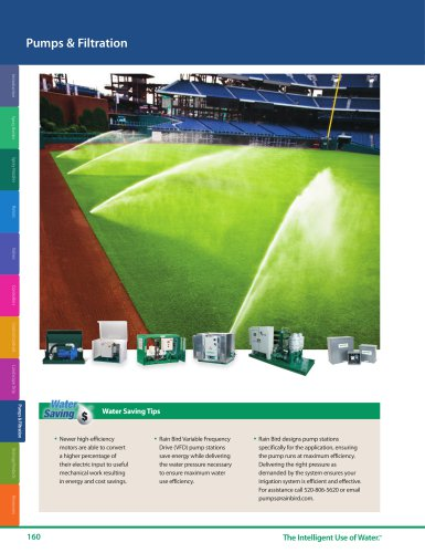 Pumps & Filtration -- 2018 Rain Bird Landscape Irrigation Products Catalog