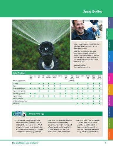 Spray Bodies -- 2018 Rain Bird Landscape Irrigation Products Catalog