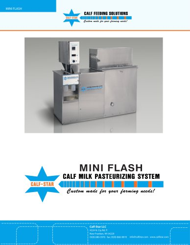 Mini Flash Calf Milk Pasteurizer