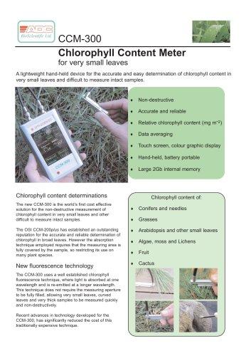 CCM-300 Chlorophyll Content Meter