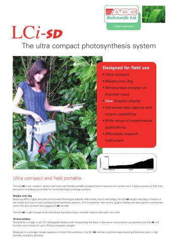 LCi-SD Ultra Compact Photosynthesis System