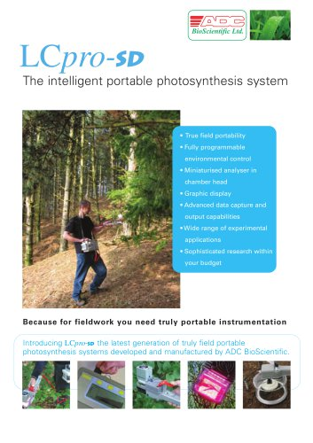 LCpro-SD Advanced Photosynthesis Measurement System