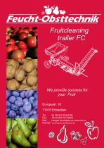 Fruit cleaning trailer FC
