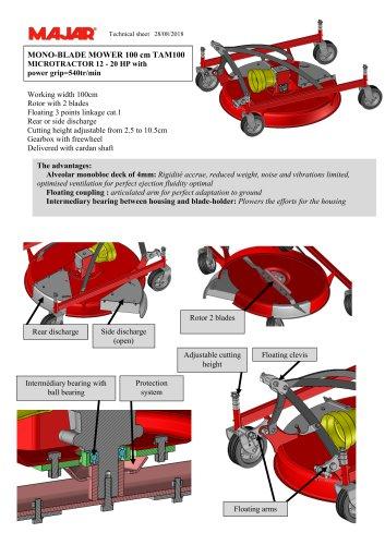 Monoblade Mower TAM100