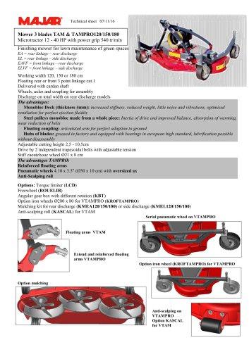 Mower 3 blades TAM(PRO)